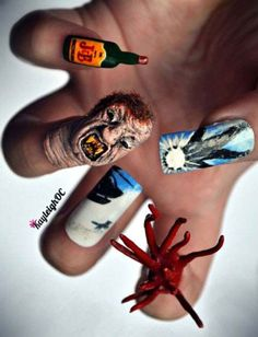 best 3d scary halloween nails
