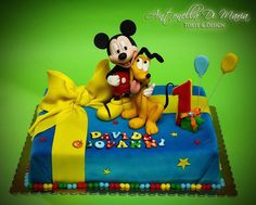 Mickey and Pluto Cake: