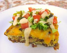 Bacon Cheeseburger Pie..A quick week night meal. I sauteed chopped onion and peppers in the meat for more flavor!  Add your favorite burger toppings!