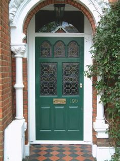 How to restore The Victorian house. Any DIY home projects that involve restoring your victorian home? House, Victorian Homes, House Front, Victorian Door, Victorian Front Doors, House Exterior, House Restoration, Front Door, Victorian Terrace
