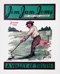 'A Volley Of Truth' - Vintage Golf Print. Vintage 1919 magazine illustration reproduced on Archival Heavyweight Paper. One for the golfer's wall. http://www.zazzle.com/a_volley_of_truth_vintage_golf_print-228394404571039866 #golf #print #vintage #1919
