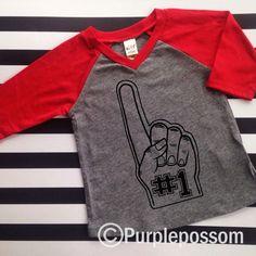 First Birthday Shirt Baseball Football Sports by PurplePossom