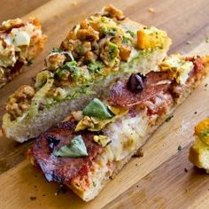 Rustic Bread Pizzas: Spicy Italian on Ciabatta, and Fall Vegetable on French Bread