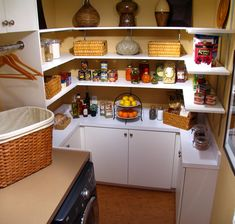 I'm not crazy enough to actually decorate my pantry, but this idea would work in our space