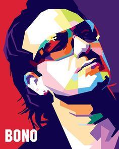 Bono Vox wpap by difrats Bono Vox, Sketch Manga, Vector Pop, Pop Art Portraits, Pop Rock, Art Music, Urban Art, Rock Art, Unique Art
