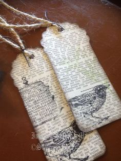 vintage bookmark - something to do with old class manuals you don't need anymore!