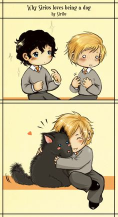 I don't ship this pairing (Remus belongs to Tonks!!!), but I think it's kind of cute.