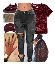 """""""But Age Ain Nun But A Numbaaar"""" by b-a-b-y-g-ii-r-l ❤ liked on Polyvore featuring Hollister Co., The High Rise, Agent 18 and Puma"""