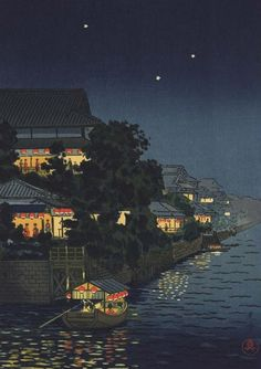 Tsuchiya Koitsu. Yanagibashi, 1934 (493x700, 213Kb)