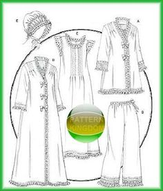Butterick 5061 Victorian Nightgown Robe Jacket & Hat Patterns