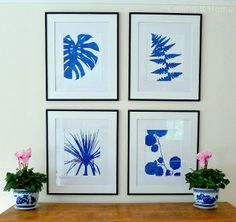The Pink Pagoda's prints on Calling it Home Blog. One Room Challenge - My Family Room