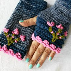 knitted gloves - Google Search