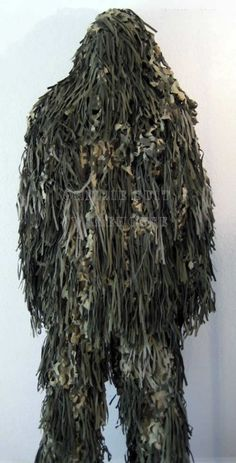 Ghillie suit = great swamp monster