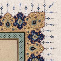 Persian Calligraphy, Islamic Art Calligraphy, Islamic Art Pattern, Pattern Art, Book And Frame, Illumination Art, Turkish Art, Arabic Art, Gcse Art