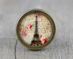 Eiffel Tower  Handmade Vintage Bronze Dresser knobs by jade4wood