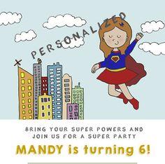 Supergirl birthday party Superheroes birthday party