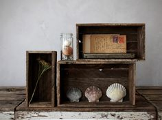 set of 3: reclaimed wood boxes