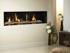 Carmelo, High Efficiency, Hole in Wall, Gas Fire, Trimless, Log Fuel Bed