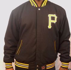 Pittsburgh Pirates Reversible JH Design Jacket Black and Team Colors #PittsburghPirates