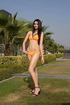 fbb Femina Miss India Delhi 2015 first runner-up Aditi Arya posing in hot bikini shoot at the Hyatt Regency, Gurgaon.