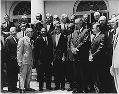 Lyndon Johnson and Robert Kennedy with Civil Rights leaders, June 1963 Black Presidents, Greatest Presidents, American Presidents, Martin Luther King, Afro, African American History Month, Civil Rights Leaders, Robert Kennedy, History Classroom