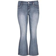 maurices Plus Size - Denim Flex ™ Medium Wash Slim Boot Jeans ($34) ❤ liked on Polyvore featuring jeans, pants, medium sandblast, plus size, mid rise bootcut jeans, maurices jeans, blue denim jeans, slim fit jeans and zipper jeans