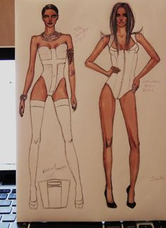 body & garment illustrations #FSketcher