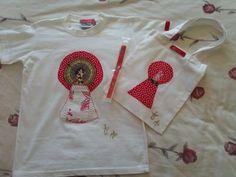 camisetas Virgen del Pilar con Cinta y bolsa a juego.