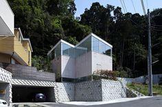 A.L.X. / junichi sampei elevates forest house in kanagawa