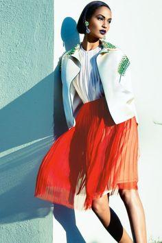 joan smalls in color | Joan Smalls in Vogue Australia