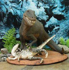 Dinosaur Cake Idea #8: Carnivore Dinner Time Cake  ~ http://www.dinopit.com