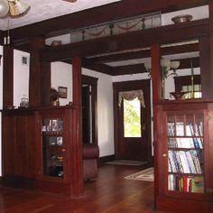 Craftsman interior.  Love the old built-ins.