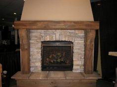 Beautifully finished wood fireplace mantels with rich exotic accents make a powerful design statement as they lend warmth and elegance to any room! Craftsman Fireplace, Rustic Fireplaces, Cabin Fireplace, Marble Fireplaces, Wood Fireplace, Wood Fireplace Mantel, Rustic Fireplace Mantels, Fireplace