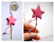 Lush Magic Snow Fairy Wand Necklace, with real working jingle bell! :)
