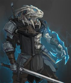 m Dragonborn Fighter Eldritch Knight Hvy Armor Sword casting underdark Dungeons And Dragons Characters, D D Characters, Fantasy Characters, Fantasy Races, Fantasy Armor, Dark Fantasy, Fantasy Fighter, Fantasy Character Design, Character Design Inspiration