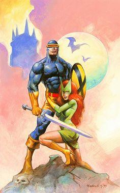 Cyclops  Marvel Girl by Alex Horley