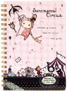 kawaii Sentimental Circus ring binder notebook San-X