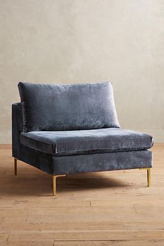 Slide View: 1: Slub Velvet Edlyn Chair