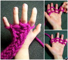 Finger Knitting Instructions-20 Indoor Kids Activities