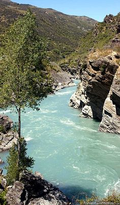 Roaring Meg Rapids of the Kawarau River, New Zealand
