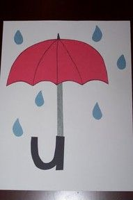 letter u - umbrella. This is a cute idea for kindergarten or for students in lower SPED classes. I used this in my k-2 self-contained class and the students had fun with it.