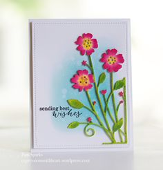 Memory Box Antilles Floral Corner and the Watercolor dip technique… | expressions with heart