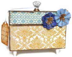 Decorative Recipe Box Recipe Box Retro Kitchen Orange Blue Green Decorblissfulboxes
