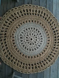 circular outdoor jute rope crochet rug