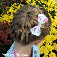 I love this starburst bun inspired by Jennis Hair Days. She has a great tutorial for it on youtube. I will link to it for you.