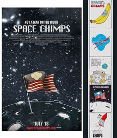 Space Chimps illustrated movie poster concept by FIDM Graphic Design Grad Mohammad Soleymanpoor