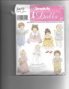 Simplicity Dolls  5419 by CraftingMoose on Etsy