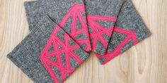 Geometric Appliqued Coasters ~ #Cameo #Applique