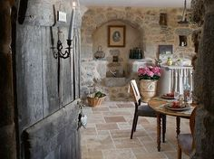 Exposed stone makes me feel lovely and cozy.