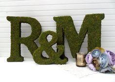 Moss Covered Wedding Monograms Ampersand Set